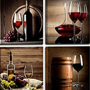 Red wine wall decor